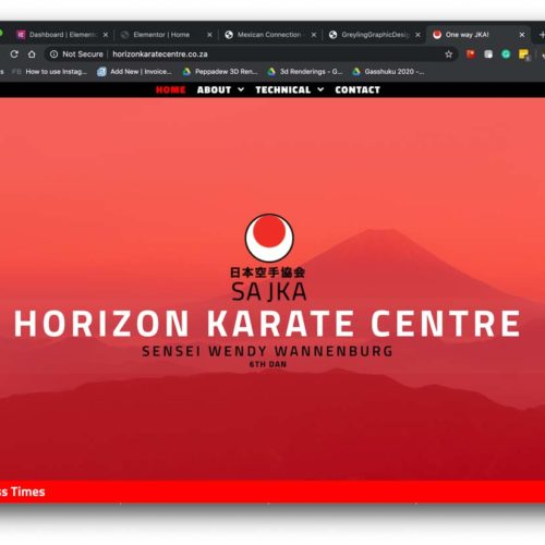 Horizon Karate Centre Website